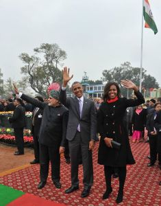 President Obama and Prime Minister Modi at India Republic Day parade.