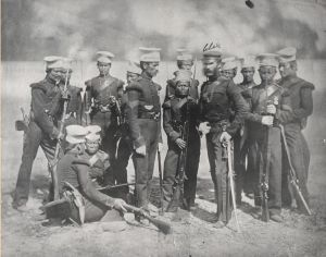 """The Nusseree Battalion later known as the 1st Gurkha Rifles circa 1857"""